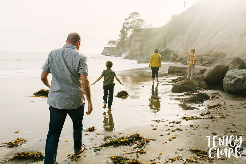 Bay Area colorful lifestyle family photography session on Capitola Beach by Tenley Clark Photography.