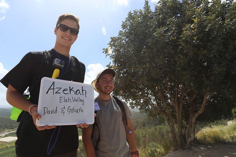 Day 1 - Azeka, Elah Valley, David and Goliath