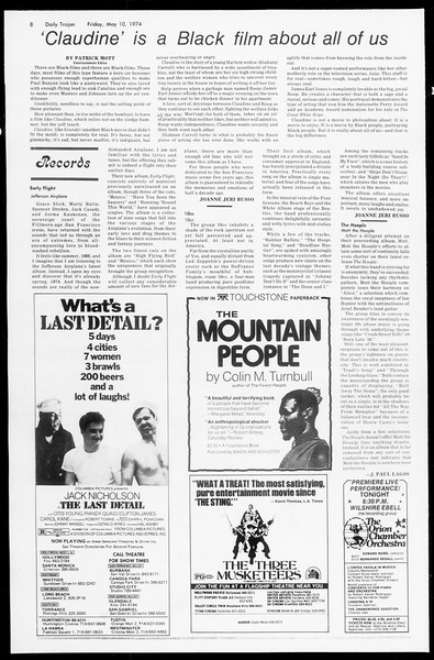 Daily Trojan, Vol. 66, No. 124, May 10, 1974