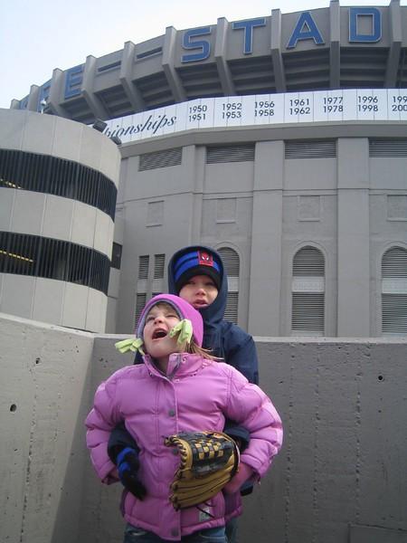 Jack and Julianna at Yankee Game 05