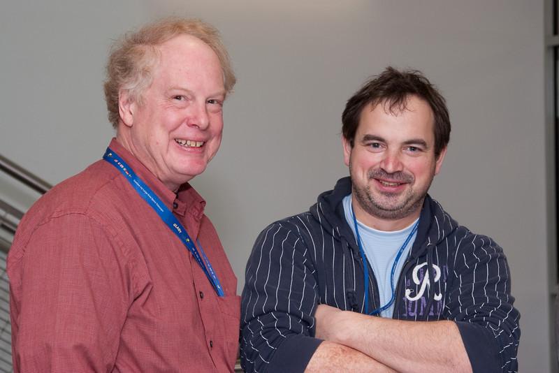 Chris Shrader and Nikolai Shaposhnikov -- March 2011 new staff welcome coffee, Astrophysics Science Division, NASA/ Goddard Space Flight Center