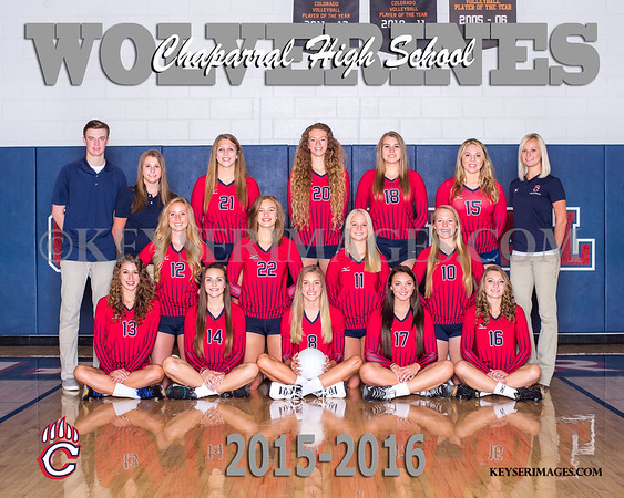 2015-16 Chaparral Volleyball