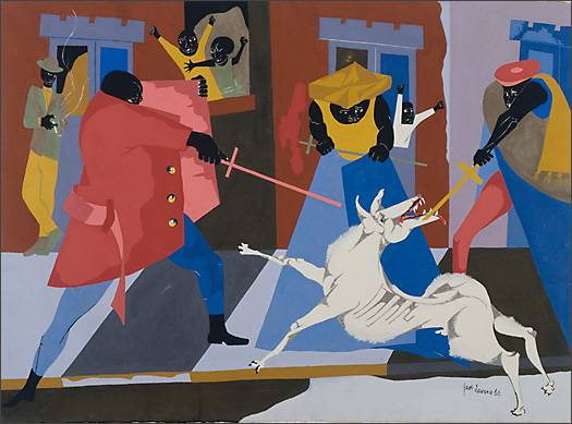 "Jacob Lawrence, ""Dreams No. 3 — Toreador"" (1966)"