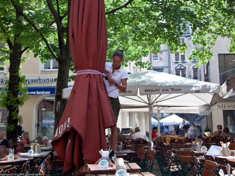 Munich. At Augustiner restaurant