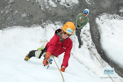 Ice Climbing with Chris and Lizzie