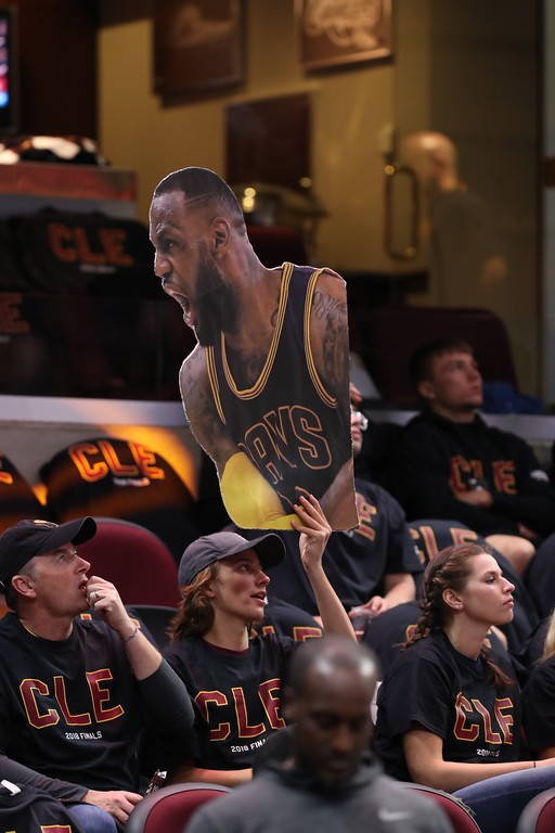. Tim Phillis - The News-Herald Photos from Cavaliers vs. Warriors in Game 3 of the NBA Finals on June 6 at Quicken Loans Arena in Cleveland.