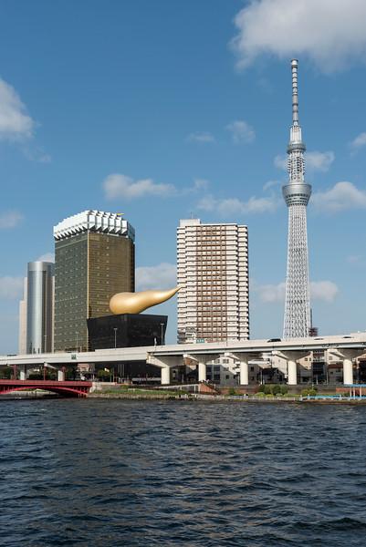 Tokyo Skytree Tower and Asahi headquarters buildings, Japan