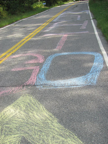 Would it be bad to admit that I was too focused on the climb to read the chalk?
