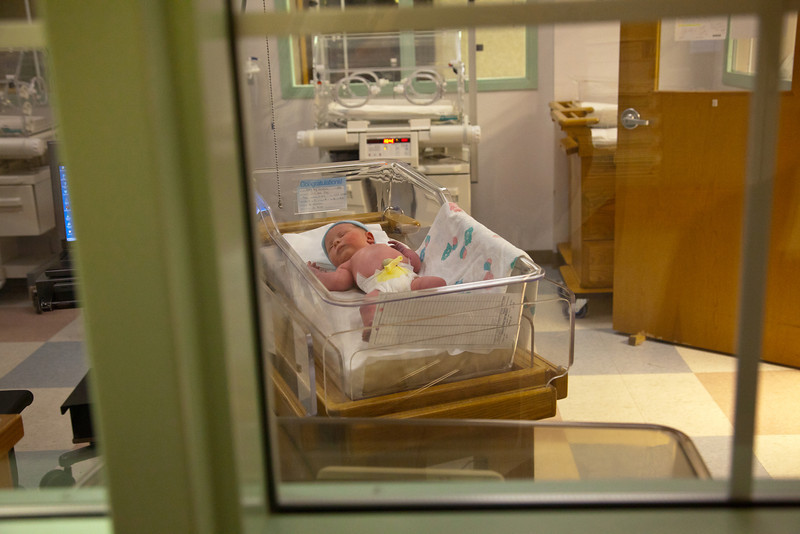 Henry Walter Grabiec during his first few days of life at Sarah Bush Lincoln Hospital in Mattoon, Illinois on November 14,  2011. (Jay Grabiec)