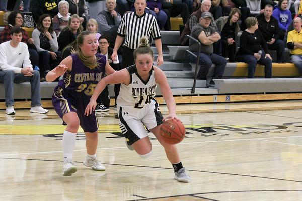 BH girls' basketball versus Central Lyon 1-22-19