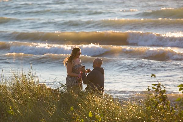 Tom + Sarah / Surprise Engagement Photography Presque Isle