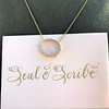 'I Will Return' Glass Oval Pendant, by Seal & Scribe 21