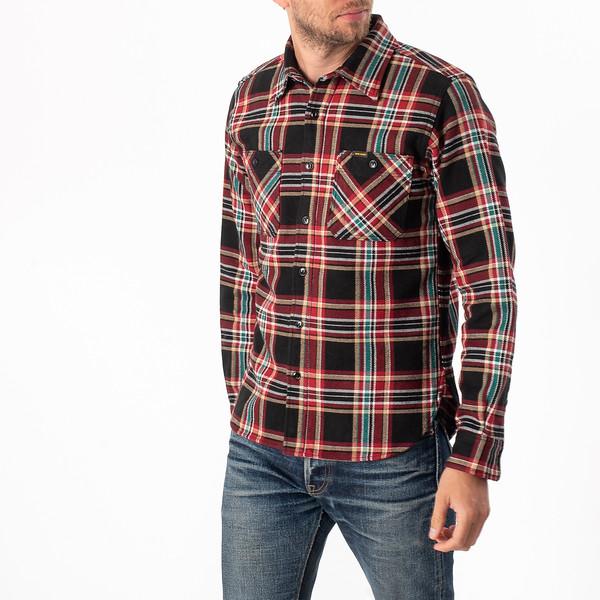 Black Crazy Check Ultra Heavy Flannel Work Shirt-3919.jpg