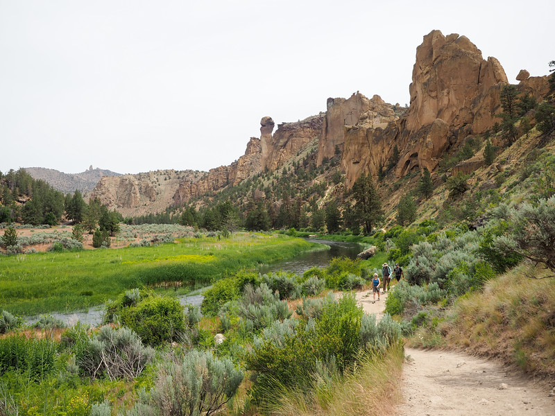 River Trail at Smith Rock State Park in Oregon