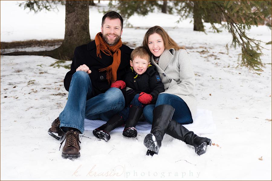 Family under tree