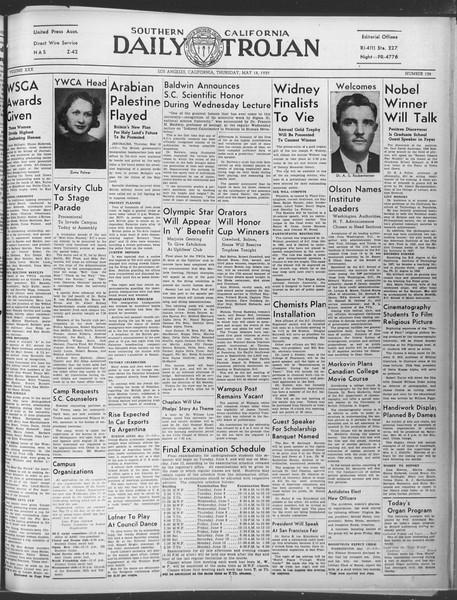 Daily Trojan, Vol. 30, No. 139, May 18, 1939