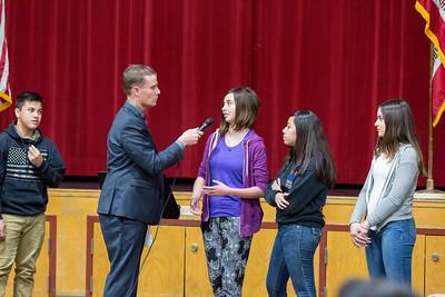 Senator McGuire at Eagle Peak Middle School