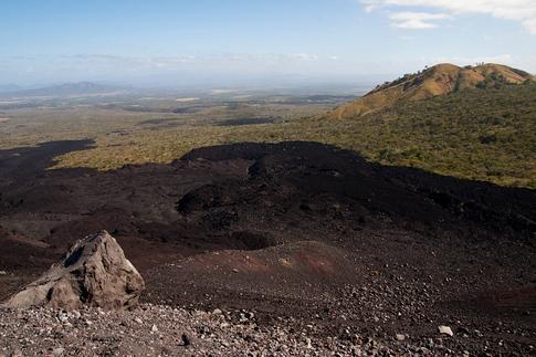 View from the climb up Cerro Negro Volcano
