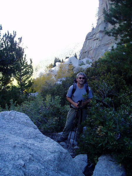 In the drainage of the North Fork Lone Pine Creek