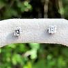 .52ctw Carre Cut Diamond Stud Earrings 0