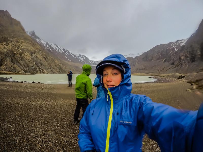 Hiking in Patagonia Laguna Toro Lina Stock