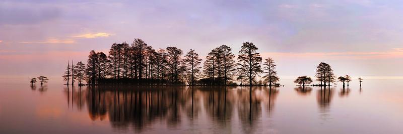 Lake Mattamuskeet Sunrise Panorama  24x72.jpg