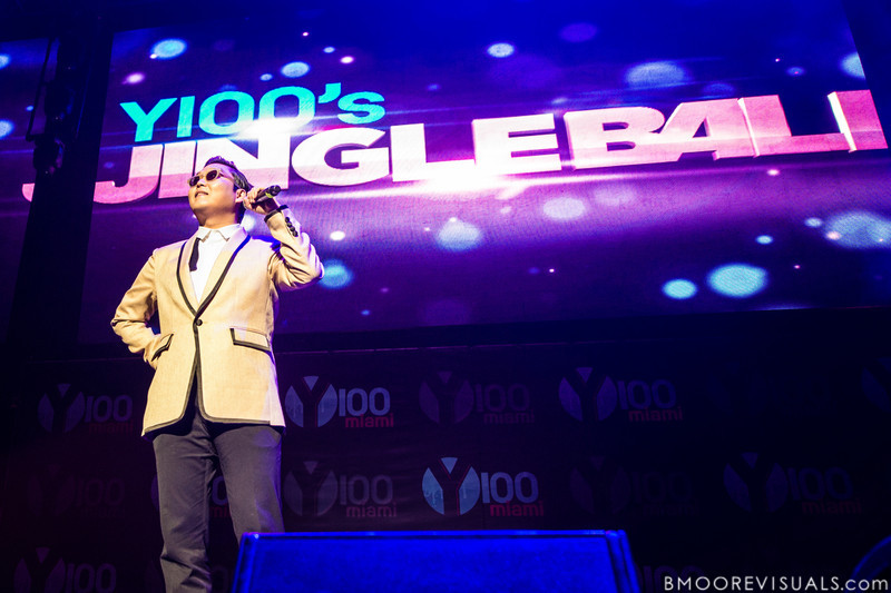 Psy performs on December 8, 2012 during the Y100 Jingle Ball at BB&T Center in Sunrise, Florida