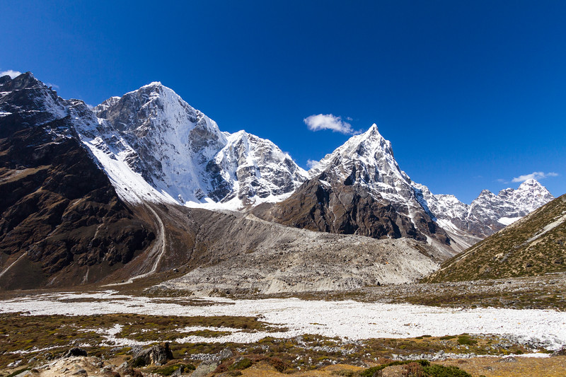 View of snowcapped mountains - Nepal