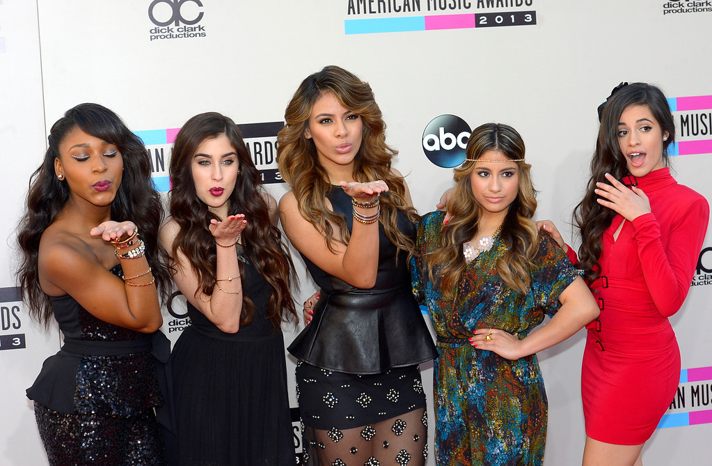 . Fifth Harmony arrives to the American Music Awards  at the Nokia Theatre in Los Angeles, California on Sunday November 24, 2013 (Photo by Andy Holzman / Los Angeles Daily News)