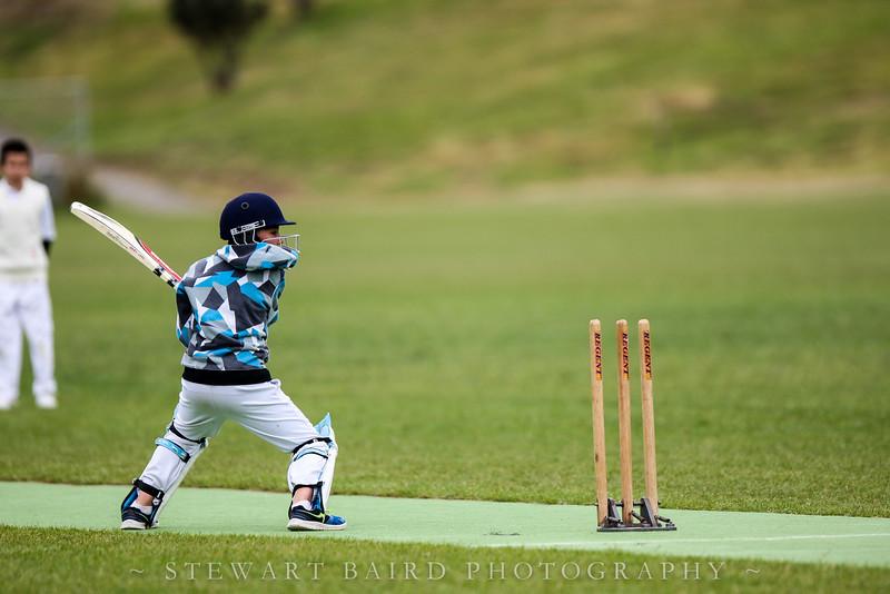 Junior cricket game played between Tawa Junior YR6 and Wellington Collegians YR6 teams, on 6 December 2014, at Ian Galloway Park, Wellington, New Zealand