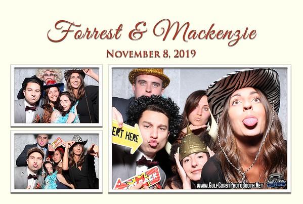 Mackenzie & Forrest Wedding Reception Nov 8, 2019