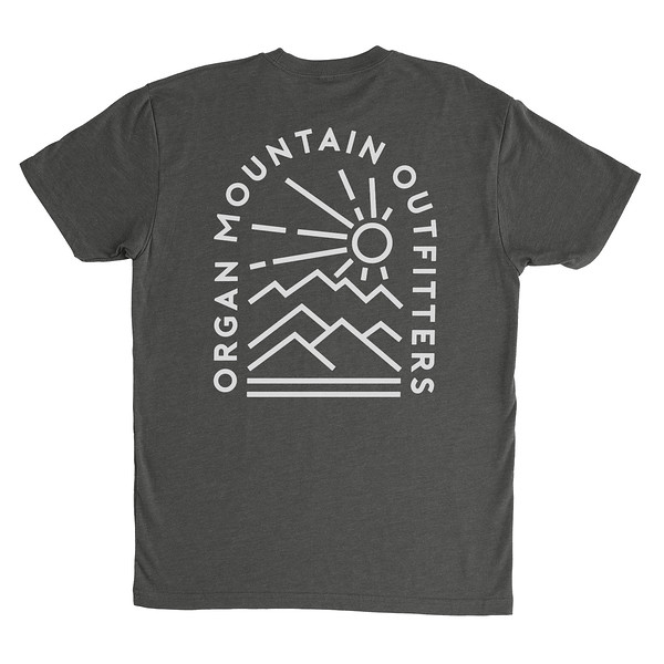 Organ Mountain Outfitters - Outdoor Apparel - Mens T-Shirt - Elevation Tee - Charcoal Back.jpg