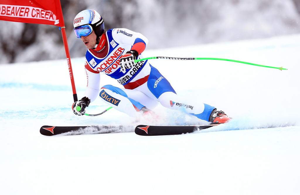 . Carlo Janka of Switzerland  in action during the 2013 Audi FIS Beaver Creek World Cup Men\'s Super G race on December 7, 2013 in Beaver Creek, Colorado.  (Photo by Doug Pensinger/Getty Images)