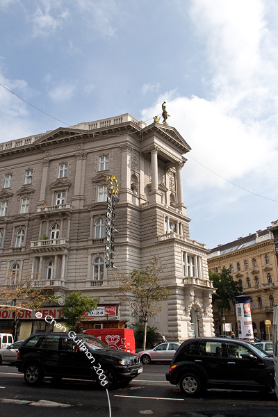A very nice building on Andrassy ut...the weather started to clear out...