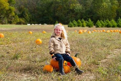 Mackenna at the Pumpkin Patch Oct 17, 2015