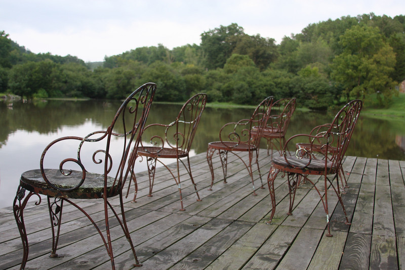 Panther Valley Ranch.  Fishing chairs available at the pond.