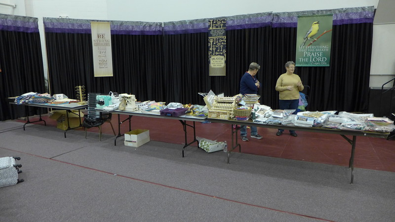 Let the Auction Begin.  Some of the items at our auction to raise funds for guild and Greater Lansing Food Bank.