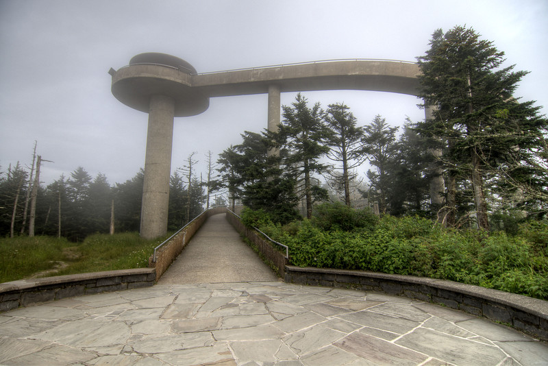 A foggy day at Clingman's Dome at the Great Smoky Mountains National Park in Cherokee, NC on Sunday, August 4, 2013. Copyright 2013 Jason Barnette