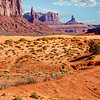 Arid Desert Landscape in Monument Valley, Utah