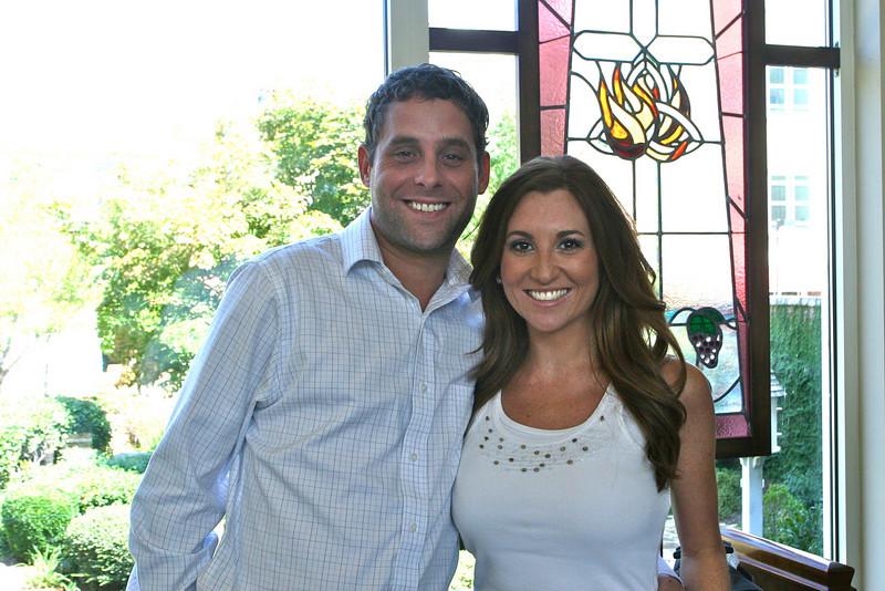 Sara Fogerty (with fiance Chris Miller)