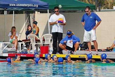 2010 Top 40 - Semi-Final - New York Aquatics Club vs Santa Barbara 10/25/10. Final score 13 to 6. NYAC vs SBWPC.  Photos by Allen Lorentzen.