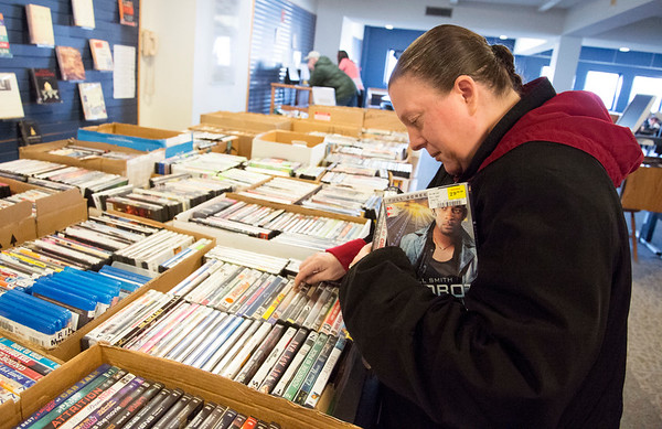 01/15/20 Wesley Bunnell | StaffrrSilvana Rinaldi shops for used DVD and BlueRay movies at the New Britain Public Library on Wednesday January 15, 2019.