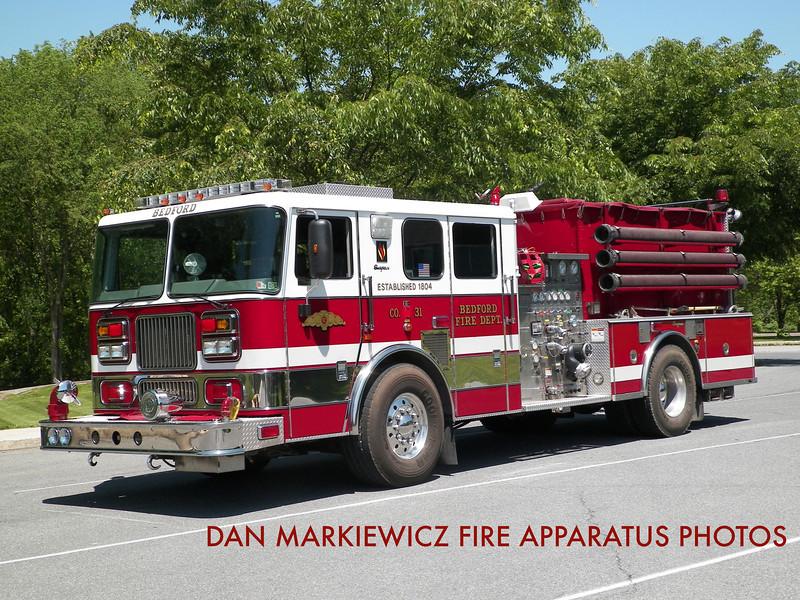 BEDFORD FIRE DEPT. ENGINE 31-12 1999 SEAGRAVE PUMPER