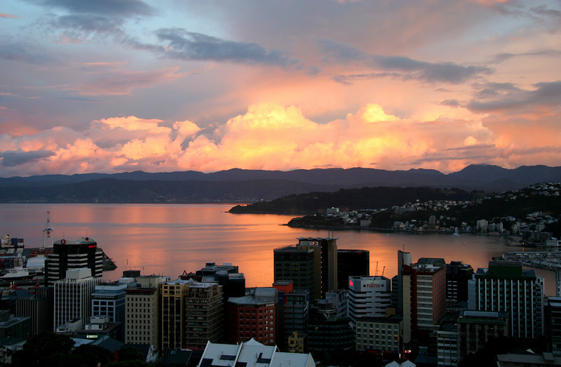 Sunset, Wellington Harbour - Thursday, 21st January 2010.