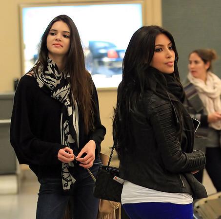2011-03-24 - Kim Kardashian and Kendall Jenner