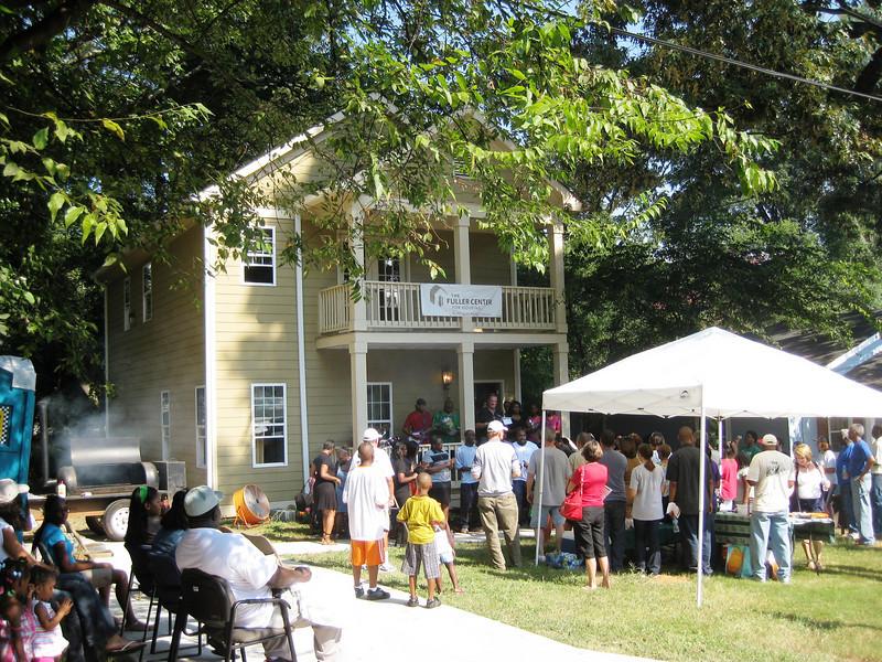 10 09-10  Dedication of Trina Kinson's house in Lakewood.  jg