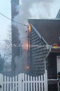 Amityville F.D. Working House Fire 20 Bayview Rd 3-14-13