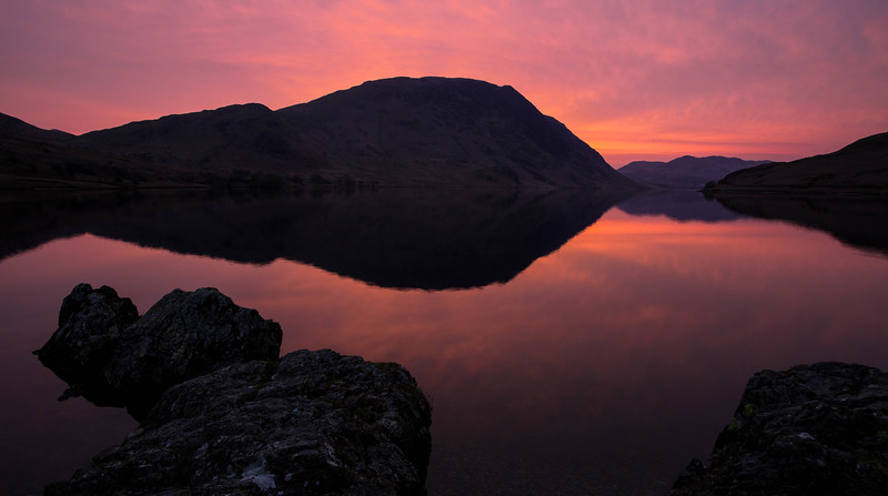 Crummock Lake sunset, Lake District National Park