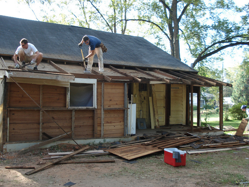 Removal of old roof. ck