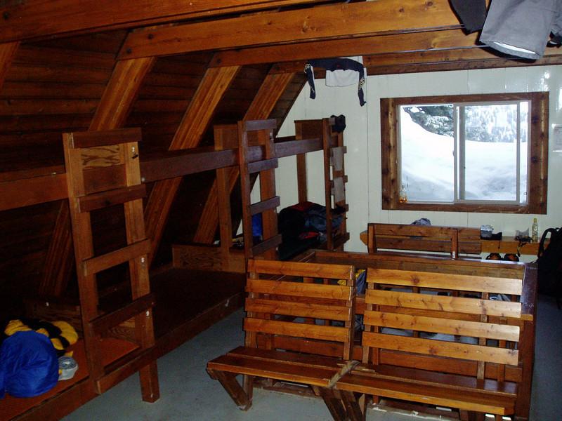 Inside Elfin Shelter
